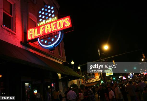 The exterior of a bar is seen on Beale Street August 13, 2005 in Memphis, Tennessee. Beale St. Is the entertainment hub of Memphis.