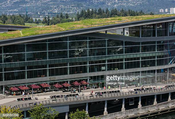 The exterior of a new downtown Convention Centre addition is viewed on June 30 in Vancouver British Columbia Canada Vancouver the largest city in...
