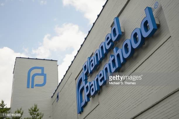 The exterior of a Planned Parenthood Reproductive Health Services Center is seen on May 28, 2019 in St Louis, Missouri. In the wake of Missouri...