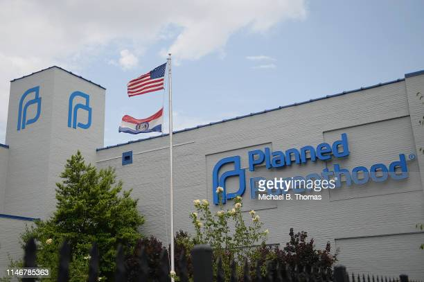 The exterior of a Planned Parenthood Reproductive Health Services Center is seen on May 28 2019 in St Louis Missouri In the wake of Missouri recent...
