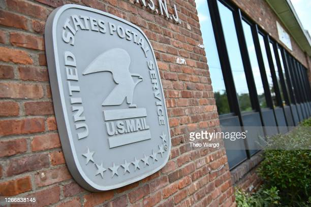 The exterior of a post office is seen on August 17, 2020 in Morris Plains, New Jersey. Postmaster General Louis DeJoy has accepted House Democrats'...