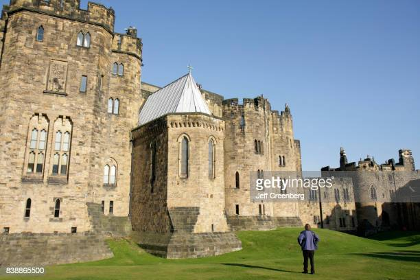 The exterior of Alnwick Castle