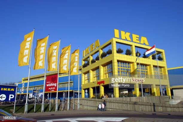 The exterior of an IKEA store is shown December 4 2002 in Delft the Netherlands All 10 stores of the furniture retailing giant in the Netherlands...