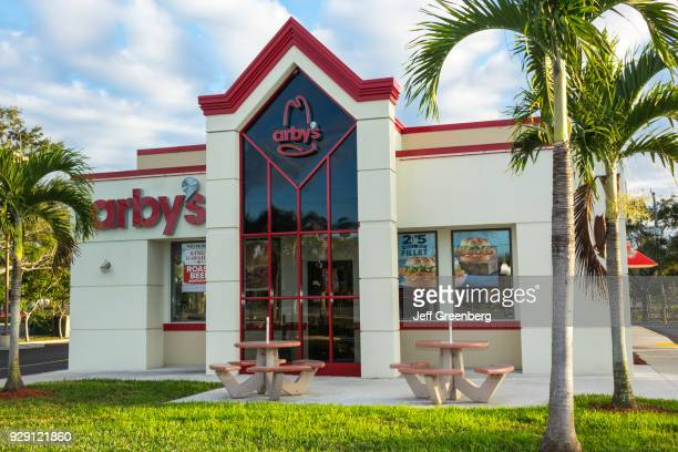 The exterior of Arby's in Naples Florida