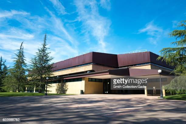 The exterior of Arrillaga Gymnasium and Weight Room on the Stanford University campus Stanford California September 3 2016