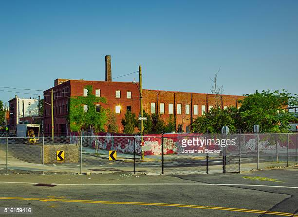 The exterior of artist Dustin Yellin's Pioneer Works is photographed for Vanity Fair on June 10 2015 in Brooklyn New York PUBLISHED IMAGE