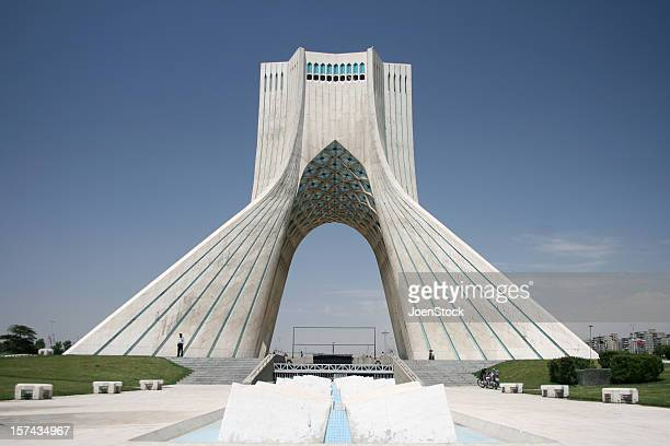 The exterior of Azadi Freedom Tower in Tehran, Iran