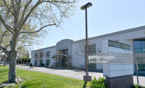 The exterior of Bayside of South Sacramento is seen during a wake for Stephon Clark in Sacramento California on March 28 2018 Clark who was unarmed...