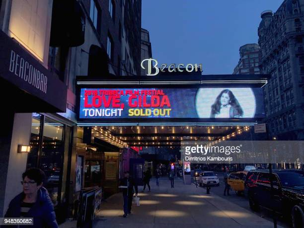 The exterior of Beacon Theater at the Opening Night Gala of Love Gilda 2018 Tribeca Film Festival at Beacon Theatre on April 18 2018 in New York City