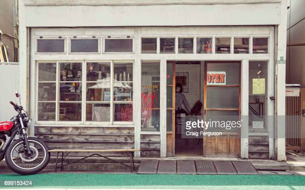 The exterior of Bearpond Espresso one of Tokyo's top coffee purveyors The tiny cafe located in the trendy Shimokitizawa district attracts coffee...