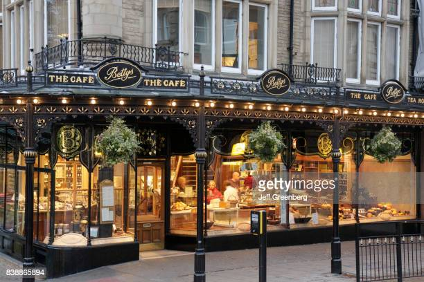 The exterior of Bettys The Caf_ on Parliament Street in Harrogate.