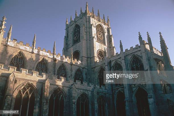The exterior of Beverley Minster East Riding Yorkshire October 1970