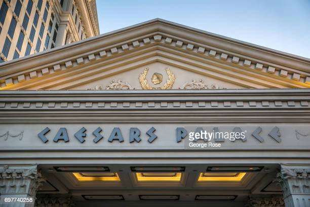 The exterior of Caesars Palace Hotel and Casino is viewed on May 31 2017 in Las Vegas Nevada Tourism in America's Sin City has within the past two...