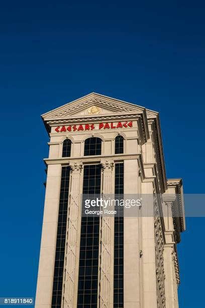 The exterior of Caesars Palace Hotel & Casino, located at the corner of Flamingo Road and Las Vegas Blvd, is viewed on July 13, 2017 in Las Vegas,...