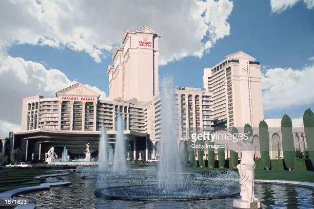 """The exterior of Caesars Palace, where singer Celine Dion's concert, """"A New Day,"""" will be held, is seen in Las Vegas, Nevada. Opening night is on..."""