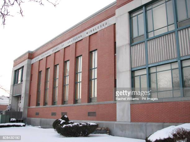 The exterior of Framingham District Court in Massachusetts USA Tuesday February 14 where Neil Entwistle will be arraigned later this week after being...