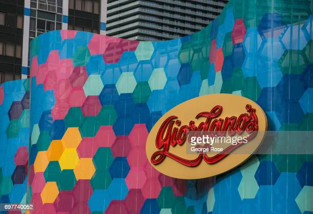The exterior of Giordano's Deep Dish Pizza restaurant located at Bally's on The Strip is viewed on May 31 2017 in Las Vegas Nevada Tourism in...