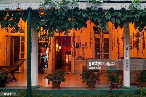 The exterior of Glenburn Tea Estate a retreat on a tea plantation near Darjeeling India