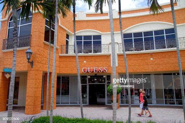 The exterior of Guess at Miromar Outlets