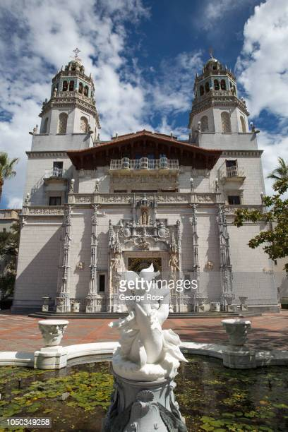 The exterior of Hearst Castle is viewed on October 4 in San Simeon California Hearst Castle built by newspaper publisher William Randolph Hearst and...
