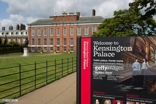The exterior of Kensington Palace in Kensington Park, on 20th August 2019, in London, England. Kensington Palace is a royal residence set in...