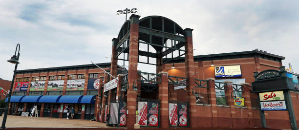 home opener for lowell spinners pictures getty images