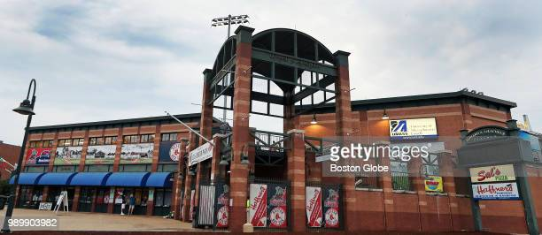 The exterior of LeLacheur Park in Lowell MA home of the Lowell Spinners minor league baseball team is pictured on the day of the team's home opener...