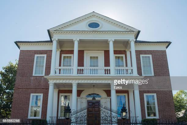 The exterior of Miles Brewton House in Charleston South Carolina the Georgian town house was built between 1765 and 1769 for Miles Brewton and was...