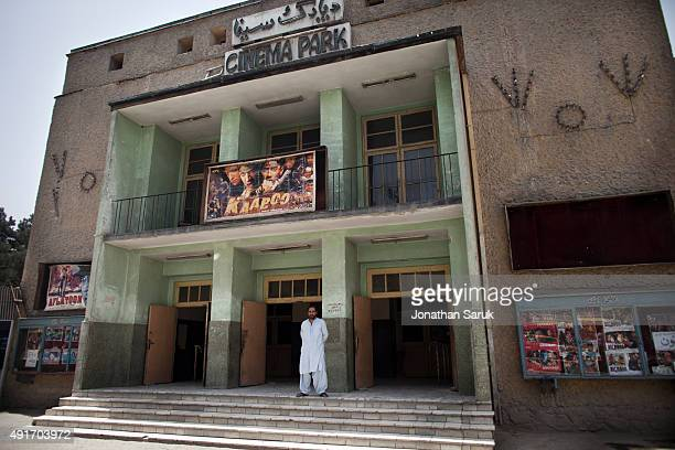 The exterior of Park Cinema in ShawreNaw Park June 5 2011 in Kabul Afghanistan Going to the movies once banned under the Taliban has become a popular...