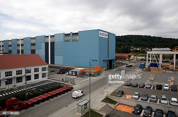 The exterior of the Alstom SA's powergeneration plant is seen in Belfort France on Tuesday June 24 2014 GEs chief executive officer Jeffrey Immelt...
