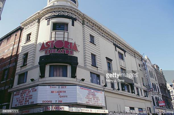 The exterior of the Astoria Theatre on Charing Cross Road London September 1997 Built as a cinema the theatre became a leading music venue before...