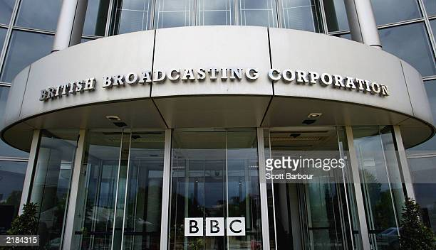 The exterior of the BBC building is seen at their Shepherds Bush headquaters July 22, 2003 in London. The BBC is preparing to defend its...