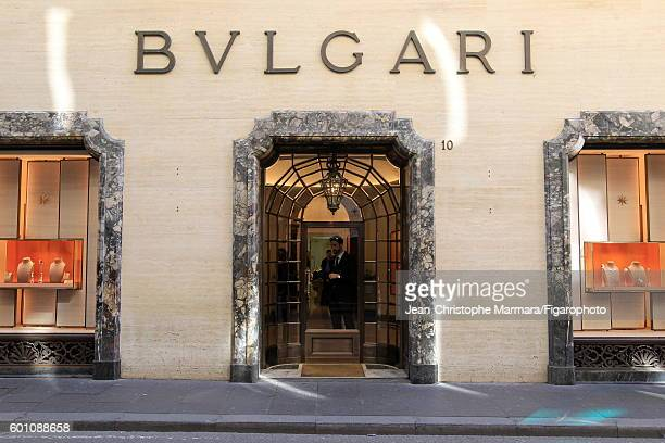The exterior of the Bulgari store is photographed for Le Figaro on March 2, 2016 in Rome, Italy. CREDIT MUST READ: Jean-Christophe...