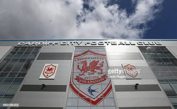 The exterior of the Cardiff City Stadium prior to the Barclays Premier League match between Cardiff City and Chelsea at the Cardiff City Stadium on...