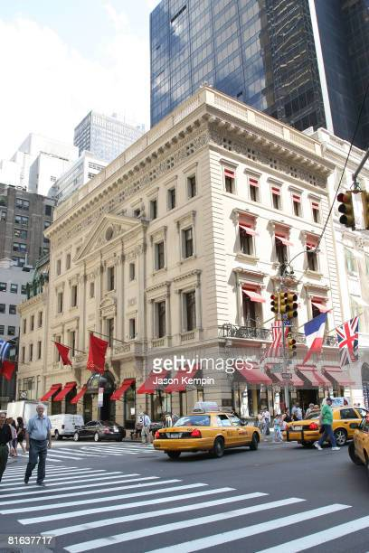 The exterior of the Cartier mansion on 5th Avenue is seen on the same day as Cartier's 3rd Annual LOVEDAY Celebration with lighting of the Empire...