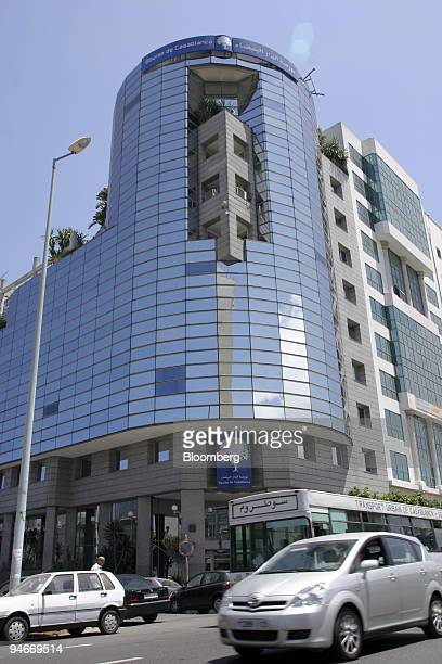 The exterior of the Casablanca Stock Exchange is seen in Casablanca Morocco on Monday July 23 2007 The midnight fog rolls off the Atlantic wrapping...