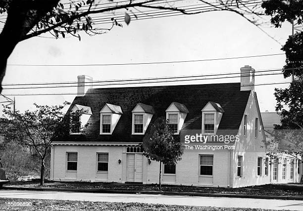 The exterior of the Chevy Chase Woman's club in Chevy Chase MD on October 17 1938