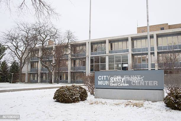 The exterior of the City of Flint Municipal Center before a press conference by Michigan Gov Rick Snyder regarding Flint water Crisis on January 27...
