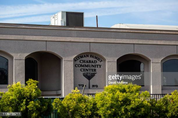 The exterior of the Congregation Chabad synagogue is seen on April 27 2019 in Poway California A gunman opened fire at the synagogue on the last day...