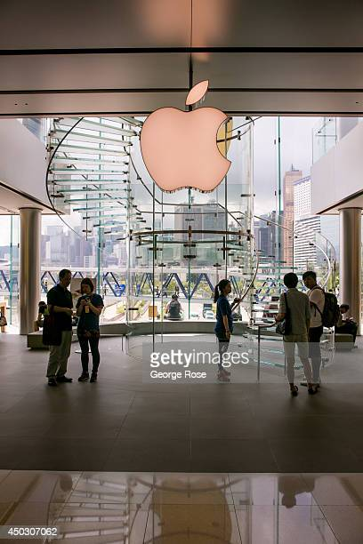 The exterior of the downtown Apple Store in Central Hong Kong is viewed on May 27 in Hong Kong China Viewed as the world's third most important trade...