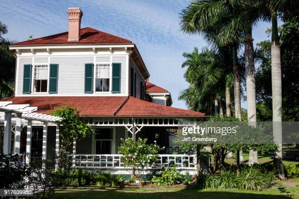 The exterior of the Edison Guest House at the Thomas Edison and Henry Ford Winter Estates