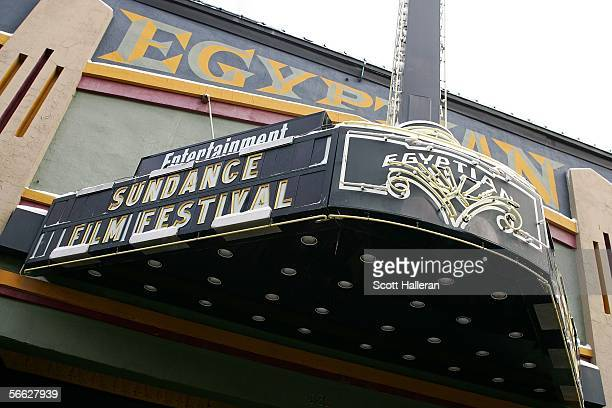 The exterior of the Egyptian Theatre is seen during the 2006 Sundance Film Festival on January 19 2006 in Park City Utah