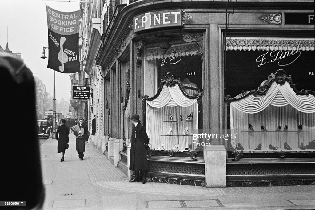The Exterior Of The F. Pinet Shoe Shop On Bond Street, London, May