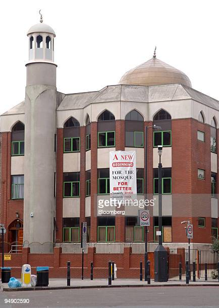 The exterior of the Finsbury Park Mosque in north London Thursday August 18 2005 Mohammed Kozbar director of north London's Finsbury Park Mosque...