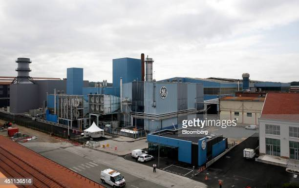 The exterior of the General Electric Co.'s power-generation plant is seen in Belfort, France, on Tuesday, June 24, 2014. GEs chief executive officer,...