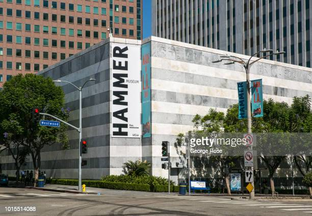 The exterior of the Hammer Museum, located on Wilshire Blvd in Westwood Village, is viewed on August 7, 2018 in Los Angeles, California. Millions of...