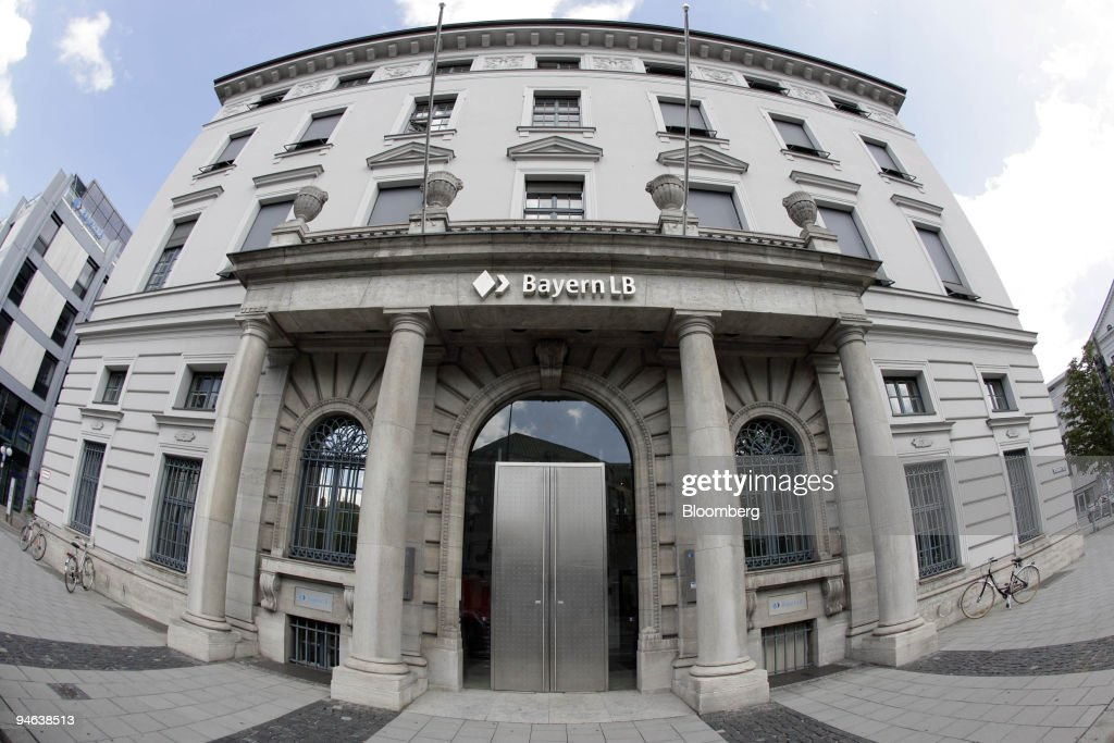 The exterior of the headquarters of Bayerische Landesbank is : News Photo