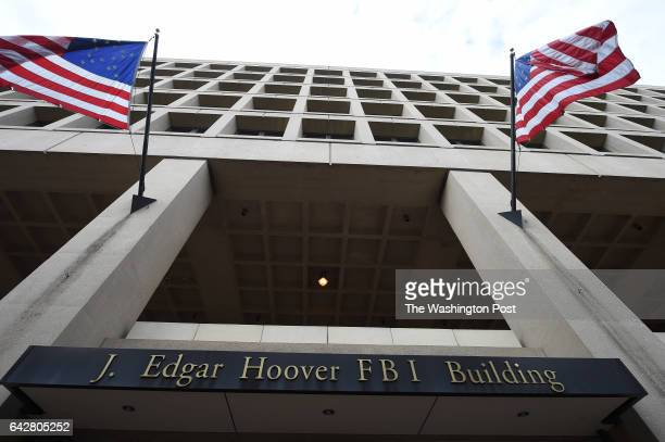 The exterior of the J Edgar Hoover Building which is the headquarters of the FBI is seen on Thursday August 20 2015 in Washington DC The agency is...