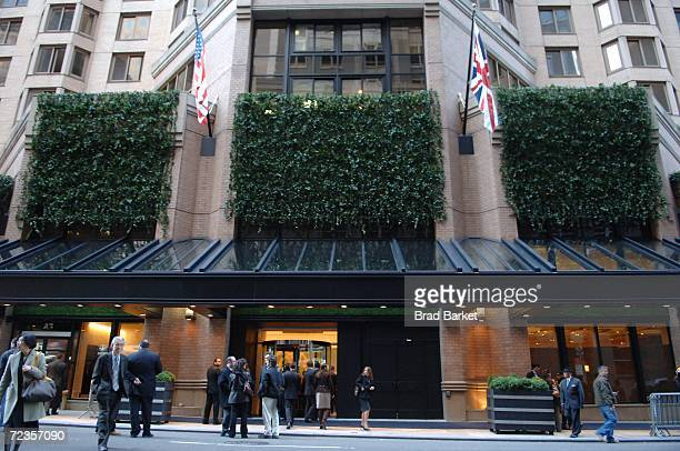 The exterior of the London Hotel is seen on November 02 2006 in New York City A flag raising ceremony was held to mark the transition of the famed...