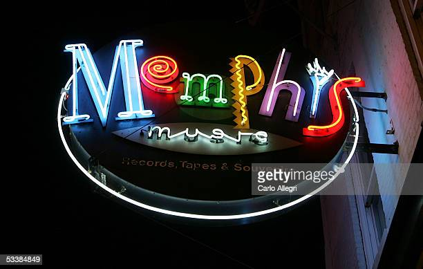 The exterior of the Memphis Music shop is seen on Beale Street August 13, 2005 in Memphis, Tennessee. Beale St. Is the entertainment hub of Memphis.
